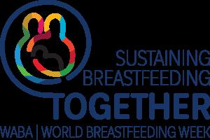 Sustaining Breastfeeding together. world breastfeeding week.