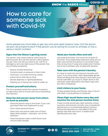 Caring for Someone Sick