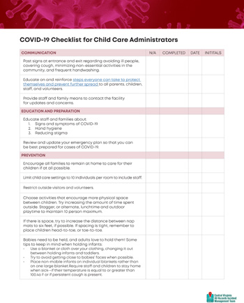 Child Care Checklist