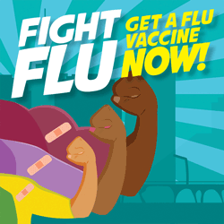 Fight Flu- Get vaccinated now!