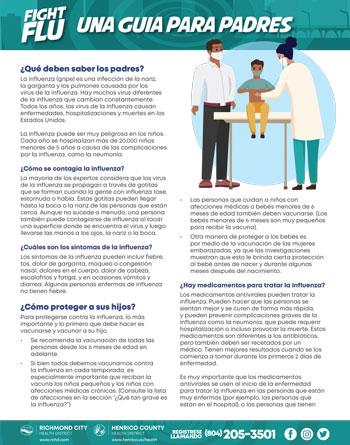 Fight Flu Flyer Spanish