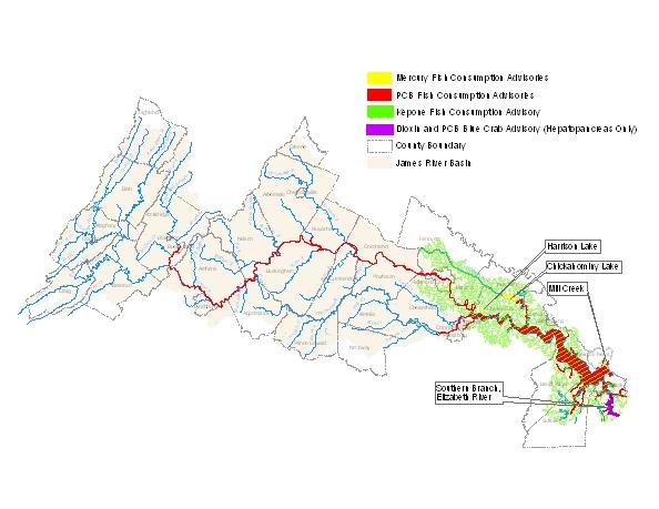 James river basin environmental epidemiology jamesriver2009 sciox Image collections