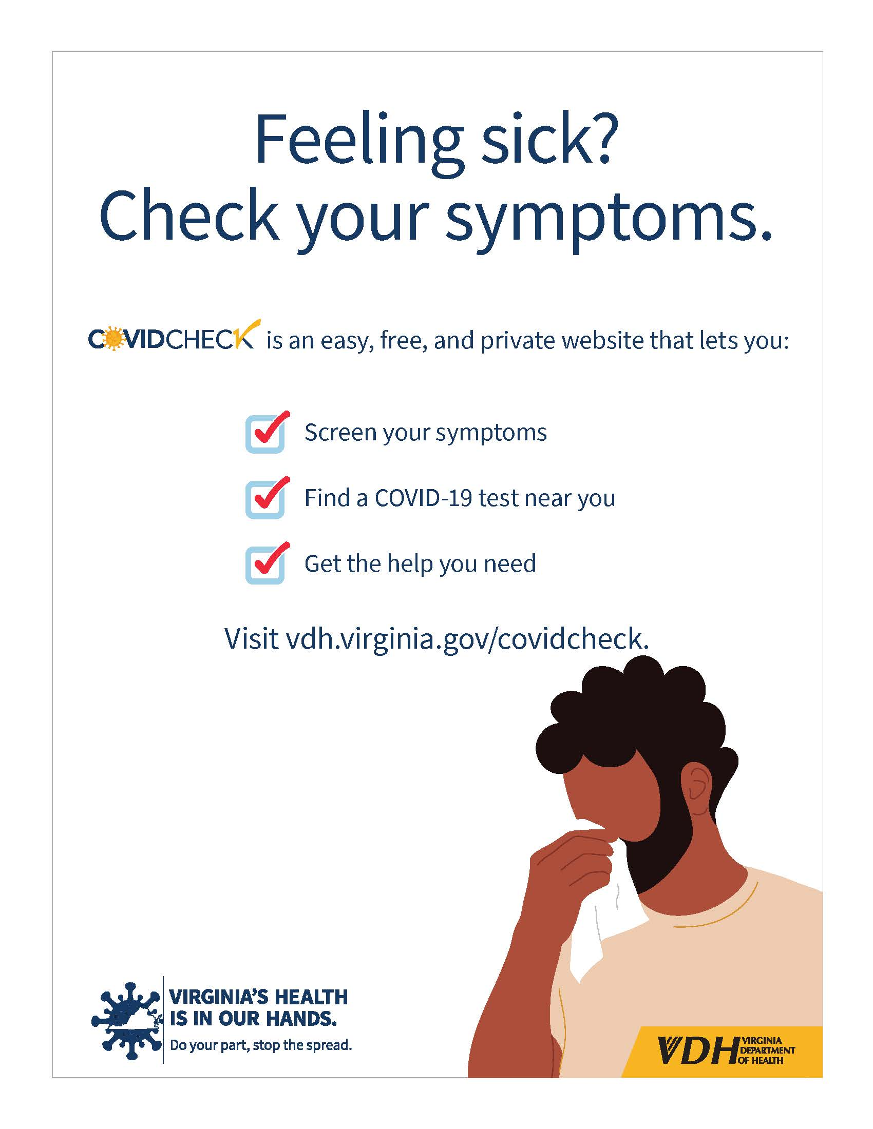 Check your symptoms white background