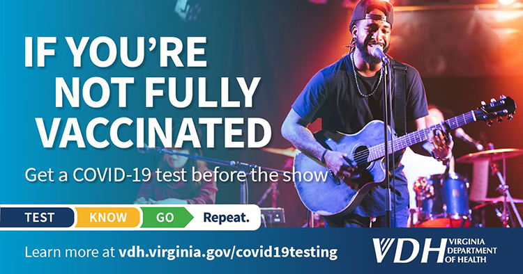 Get a COVID-19 test before the show