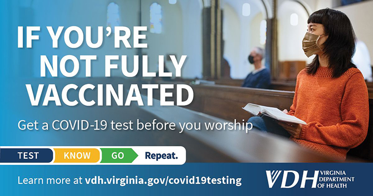 Get a COVID-19 test before you worship