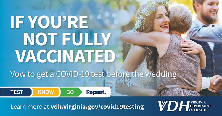 Vow to get a COVID-19 test before the wedding