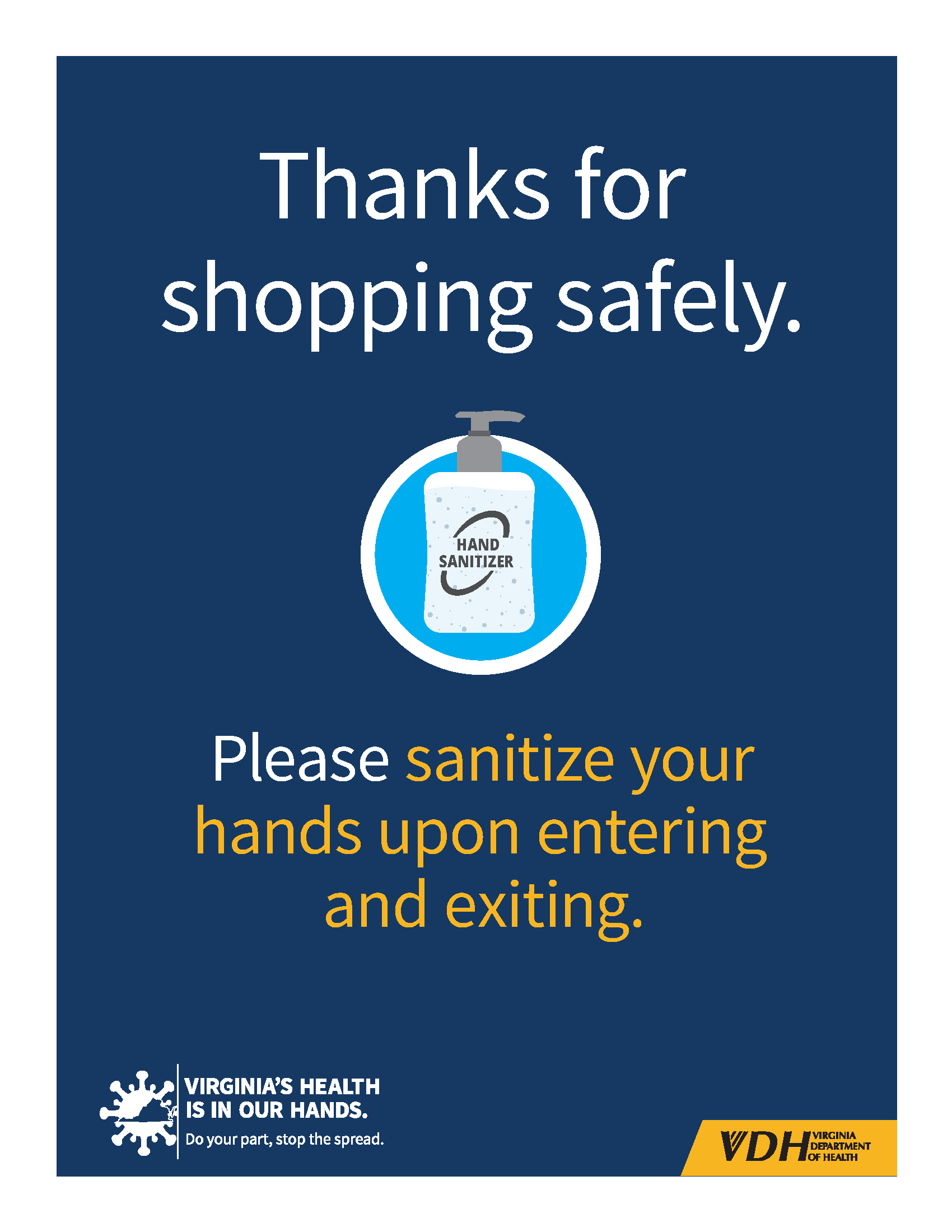 Thank you for shopping blue background