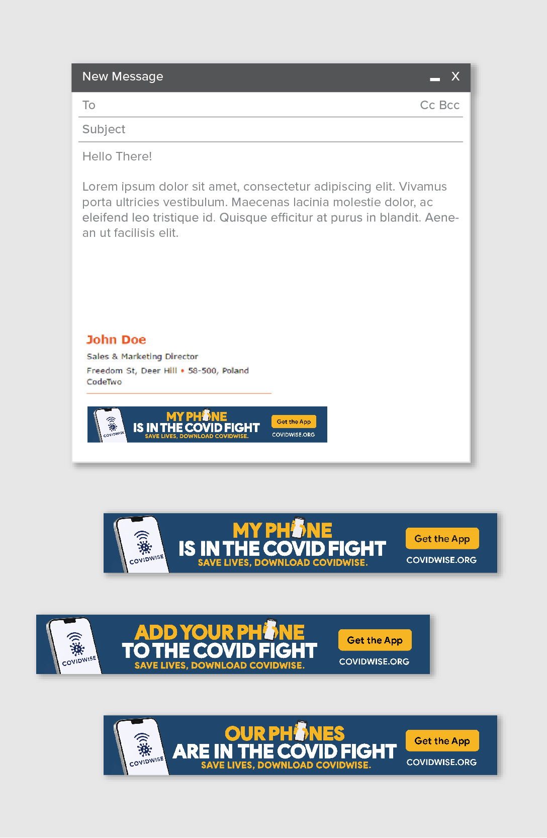 COVIDWISE Email Signatures