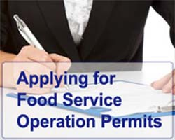 Applying for Food Service Operation Permits