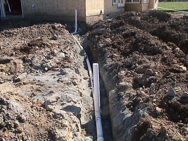 Photo of onsite sewage system construction