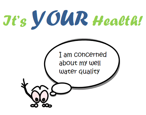 I am concerned about my well water quality logo