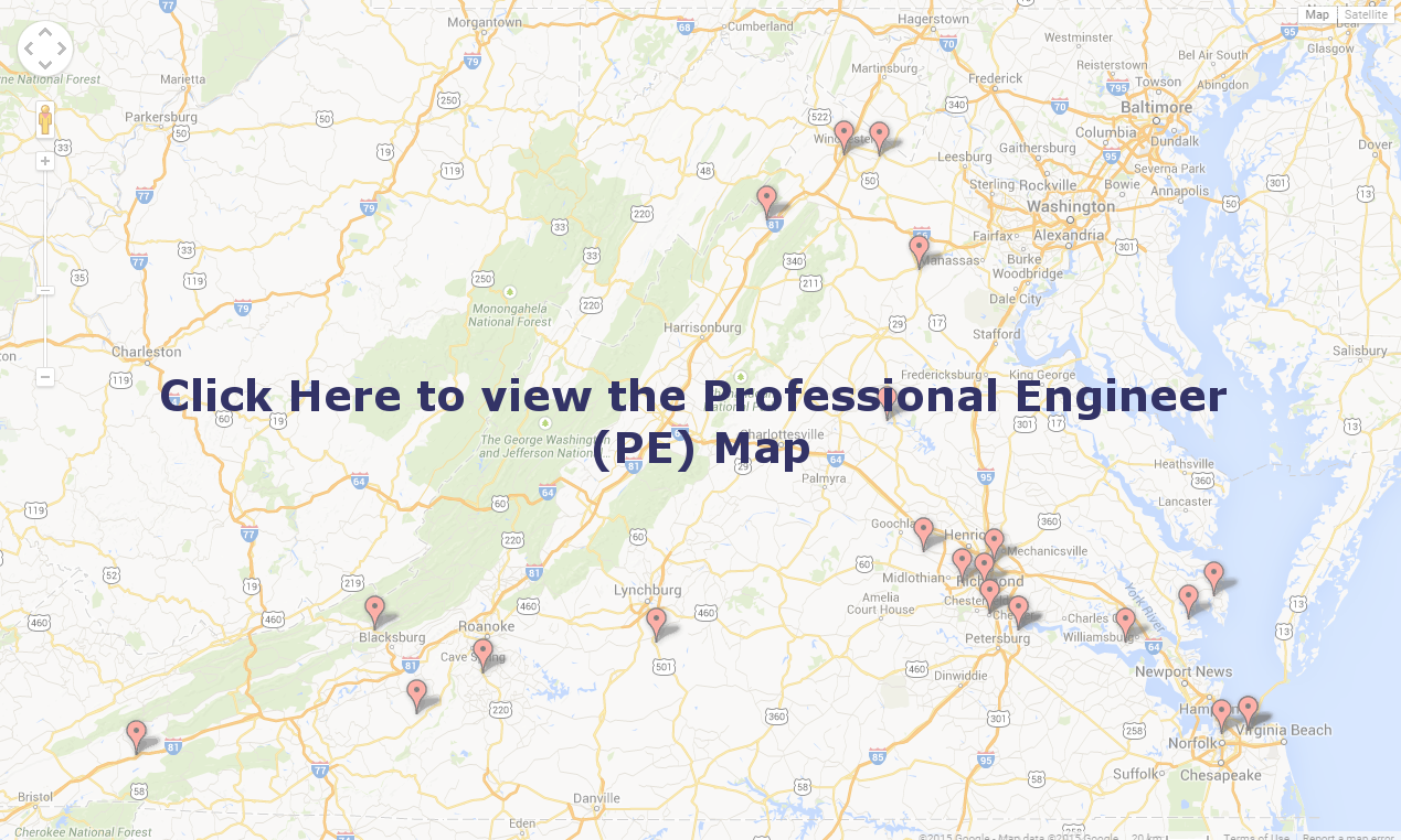 Professional Engineer Map