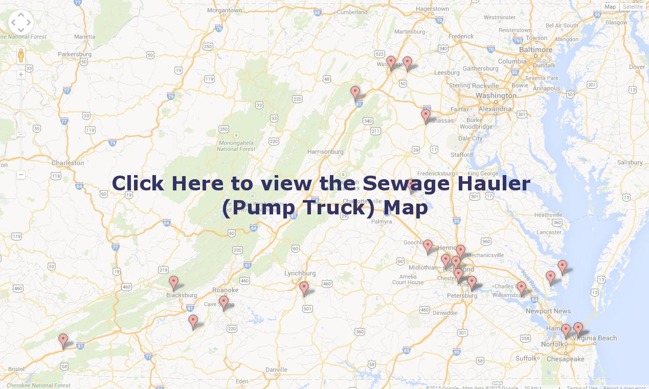 Sewage Hauler (pump truck) map