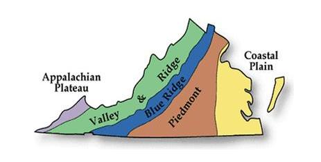 simple map of Virginia geology