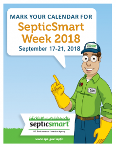 Mark your calendar for Septic Smart Week 2018