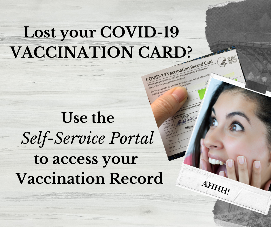 Self portal to get your COVID-19 vaccine records