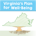 Image of Virginia as a Tree. Virginia's Plan for Well-Being.