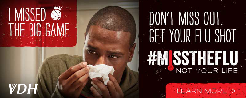 I missed the big game. Don't miss out. get your shot. #Misstheflu not your life. Learn more>