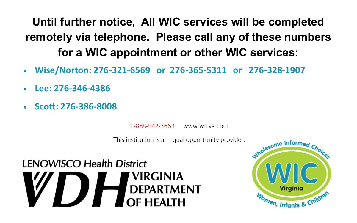 Women Infants And Children Wic Program Lenowisco Health District